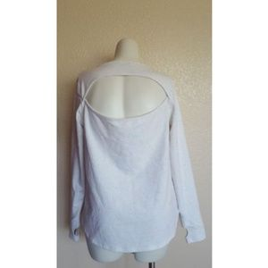 Jessica Simpson Long Sleeves Cutout Sweater Top 1X